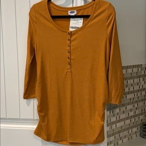 Old Navy Maternity Mustard Henley